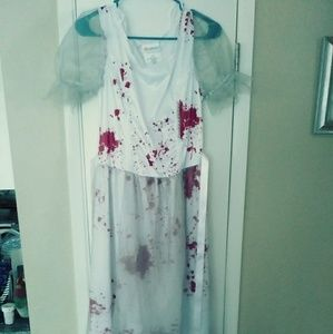 Dead zombie bridal dress costume woman's